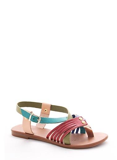 %100 Deri Sandalet Gio & Mi